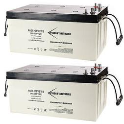 2x 12V 330Ah 8D Sealed AGM Battery for Solar Power, APS Syst