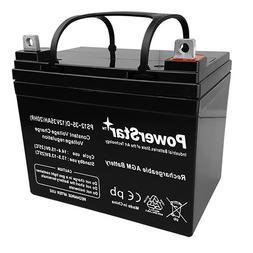 True Deep Cycle Sealed AGM Replacement Golf Cart Battery - 1