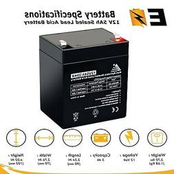New ExpertBattery 12V 5Ah sealed lead acid battery for ION B